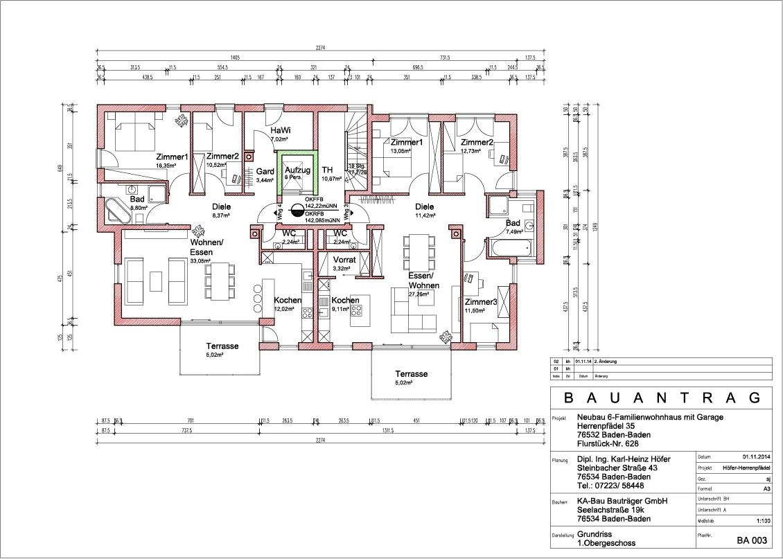 neubau 6 familienwohnhaus mit garage. Black Bedroom Furniture Sets. Home Design Ideas